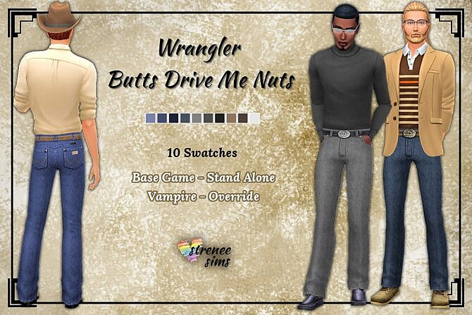 Sims 4 Classic jeans for males at Strenee Sims
