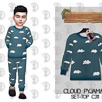 Cloud Pyjamas Sims 4 Top C311