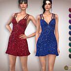 Cocktail Sims 4 Dress Sequin Double Strap