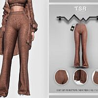 Cozy Flared Sims 4 Pants Bd426