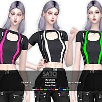 Crop T Shirt Sims 4 Sato