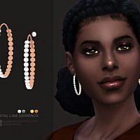 Crystal Line Sims 4 Earrings