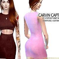 Cutout Knit Mini Sims 4 Dress