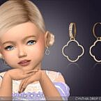 Cynthia Drop Sims 4 Earrings For Toddlers