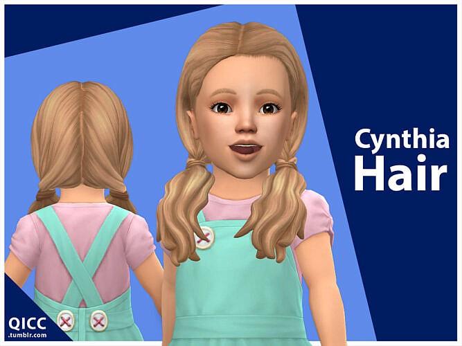 Cynthia Sims 4 Hair For Toddler Girls