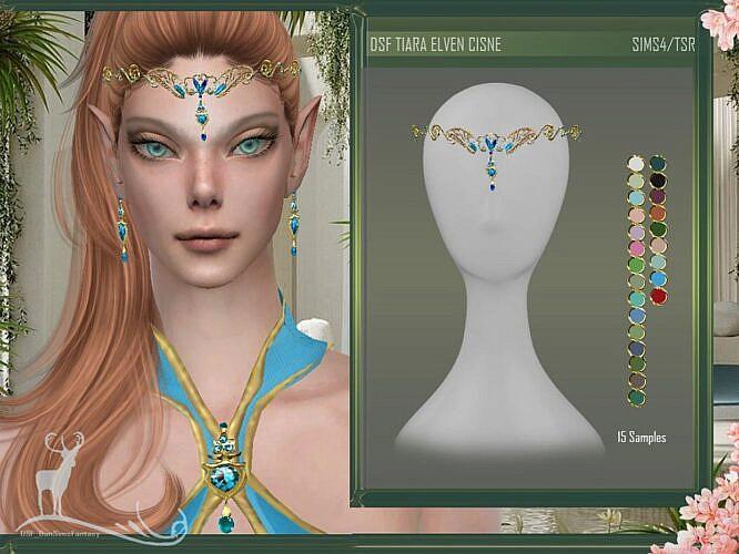 Dsf Sims 4 Tiara Elves Cisne