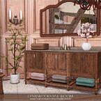 Darkwood Sims 4 Bathroom