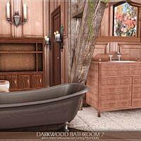 Darkwood Sims 4 Bathroom 21