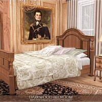 Darkwood Sims 4 Bedroom