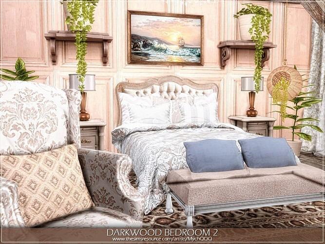 Darkwood Sims 4 Bedroom 21