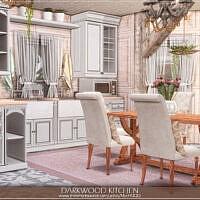 Darkwood Sims 4 Kitchen By Mychqqq