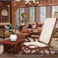 Darkwood Sims 4 Living Room