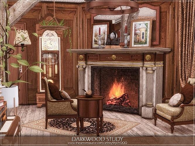 Darkwood Sims 4 Study