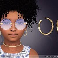 Deidre Sims 4 Hoop Earrings For Kids