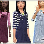 Denim Sims 4 Dress By Bukovka