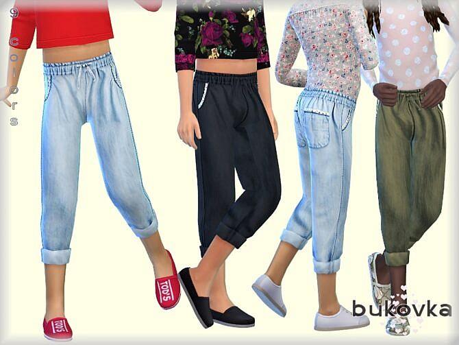 Sims 4 Denim Pants by bukovka at TSR