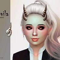 Devila Sims 4 Child Horns