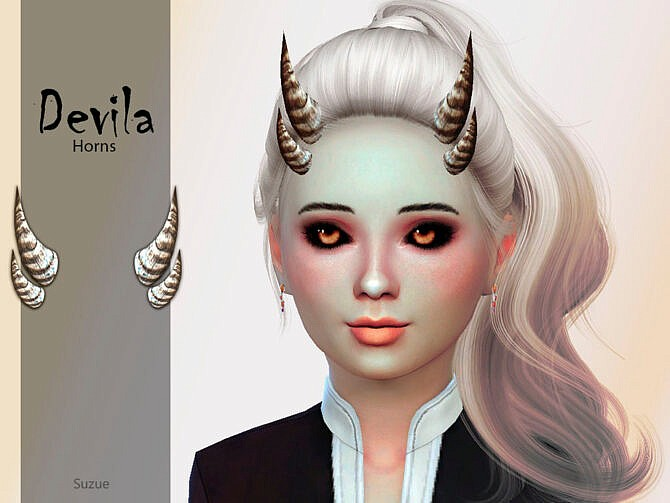 Sims 4 Devila Child Horns by Suzue at TSR