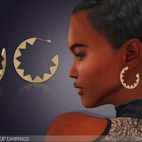 Diana Hoop Sims 4 Earrings