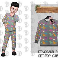Dinosaur Pajama Sims 4 Blouse C315