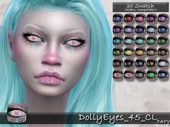 Sims 4 Dolly Eyes 45 CL by tatygagg at TSR