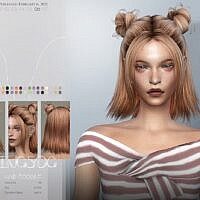 Double Buns Sims 4 Hair To0206