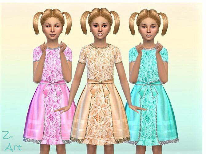 Sims 4 GirlZ 26 Dress by Zuckerschnute20 at TSR