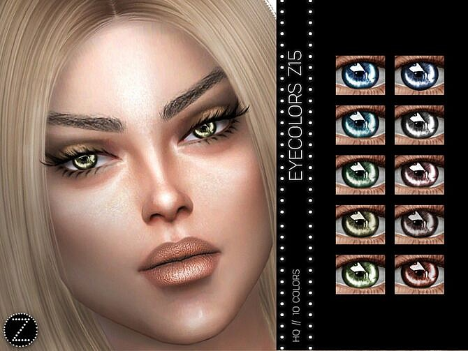 Sims 4 EYECOLORS Z15 by ZENX at TSR