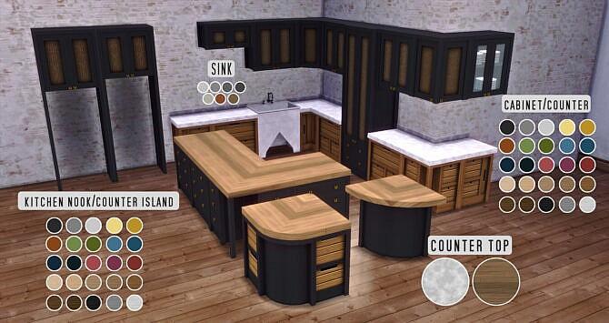 Sims 4 Edwards Kitchen Cabinetry at Pyszny Design