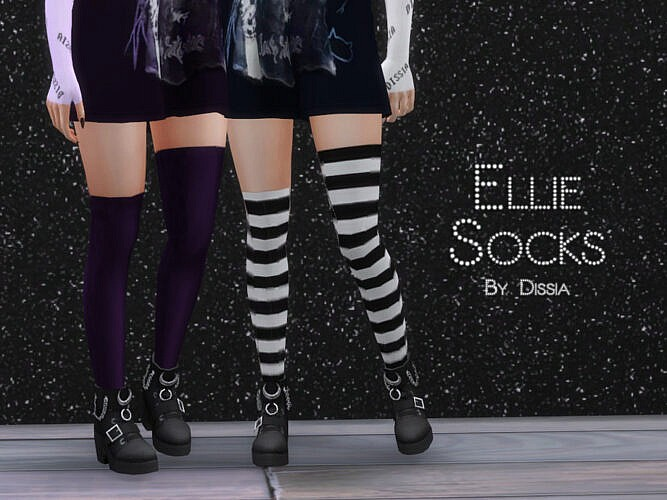 Ellie Sims 4 Socks By Dissia