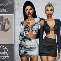 Escape Sims 4 Blouse