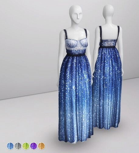 Evening Gown Sims 4 Milky Way