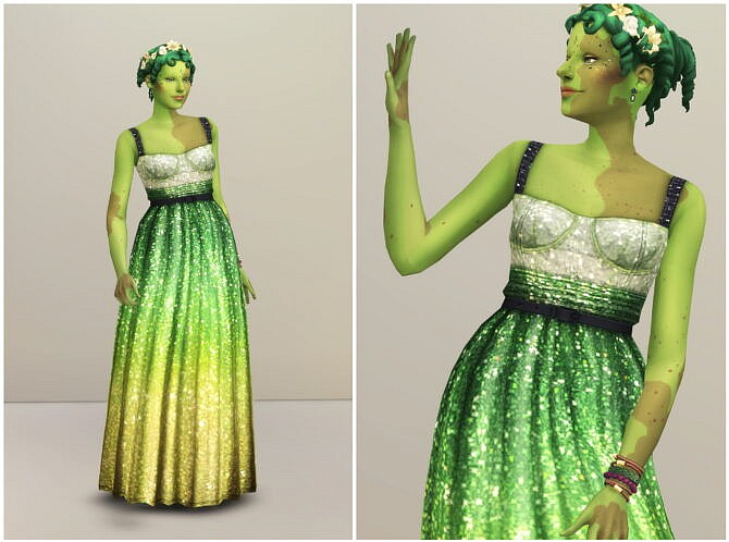 Sims 4 Evening Gown Milky Way at Rusty Nail