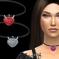 Evil Heart Sims 4 Pendant