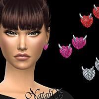 Evil Heart Stud Sims 4 Earrings By Natalis