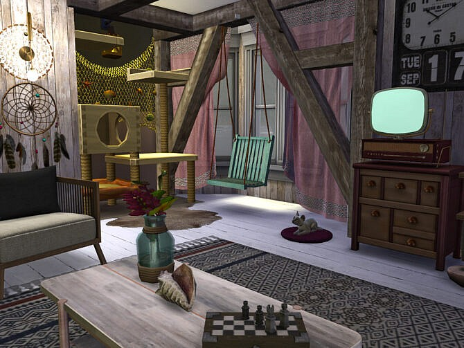 Sims 4 The Squealing Mermaid Boathouse Room by fredbrenny at TSR