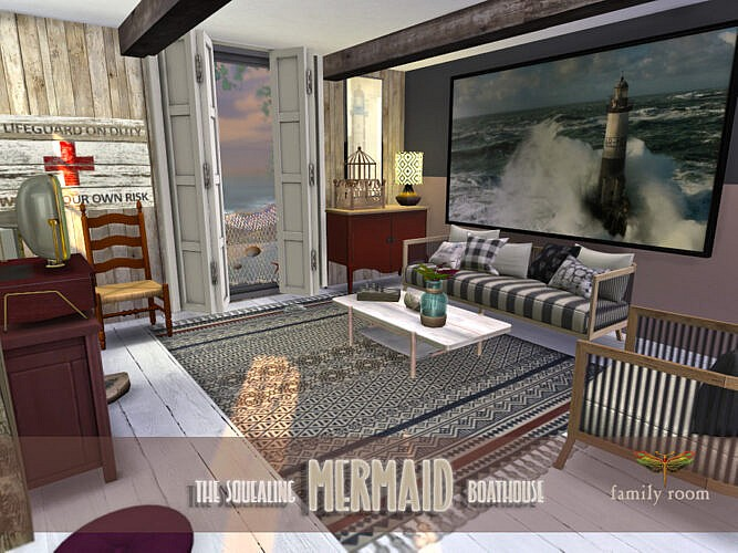 Family Sims 4 Room The Squealing Mermaid Boathouse