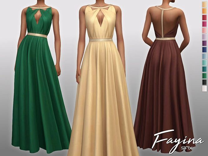 Fayina Sims 4 Formal Dress Gown