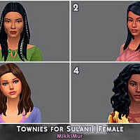 Females Sims 4 Townies For Sulani