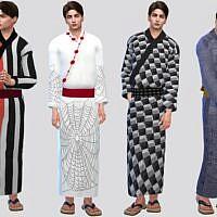 Festival Yukata Sims 4 Outfit Males