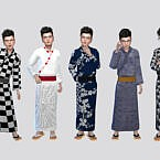 Festival Yukata Sims 4 Outfit For Boys