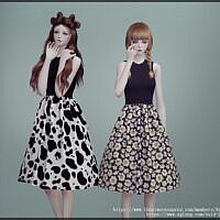 Fit And Flare Sims 4 Dress