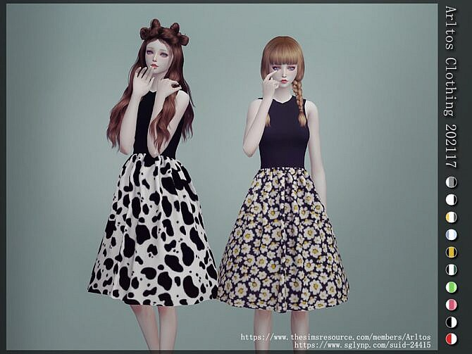 Sims 4 Fit and flare dress by Arltos at TSR