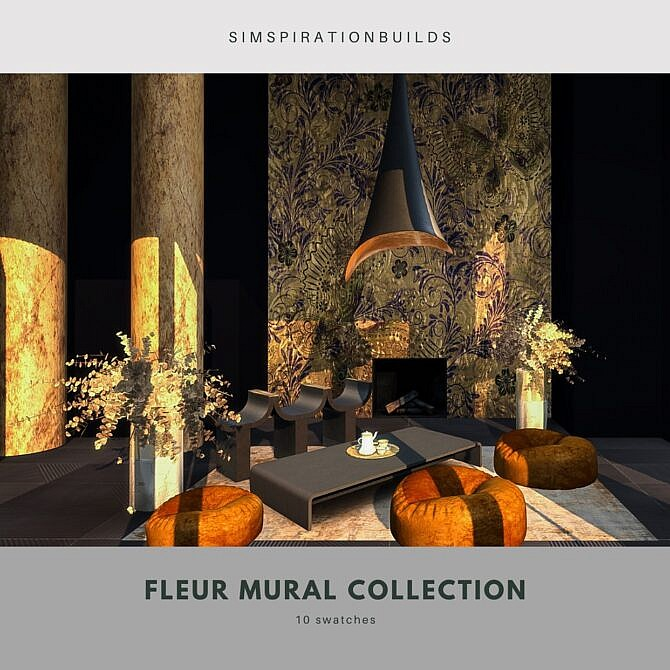 Sims 4 Fleur Mural Collection at Simspiration Builds
