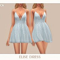 Formal Sims 4 Dress Elise By Black Lily