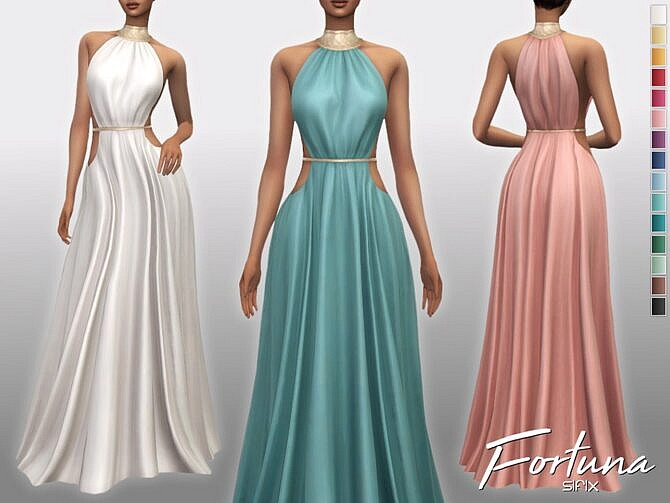 Sims 4 Fortuna Formal Dress by Sifix at TSR