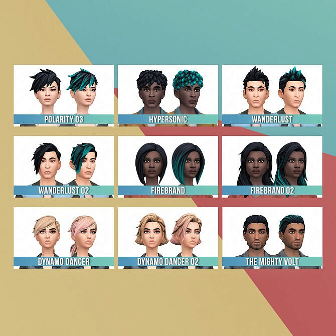 Sims 4 Fortnite Boundless Hair Set at Busted Pixels
