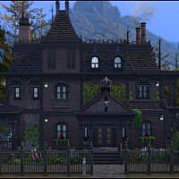 Fox Hollow Sims 4 Victorian Gothic House