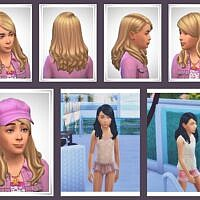 Franky Kids Sims 4 Hair