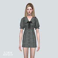 Frill Mini Dress Sims 4